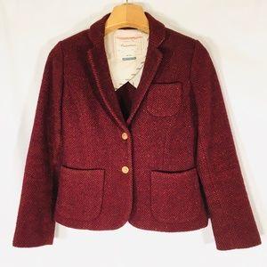 Cartonnier blazer red  fox buttons Anthropologie 4